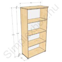 KATA1650PS Kata 4 polcos nyitott szekrény juhar