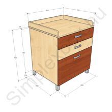 KATA900PF Kata 3 fiókos pelenkázó szekrény