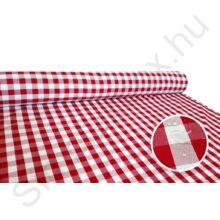 LTXCH PIROS kockás abrosz, piros-fehér színben 140x180 cm