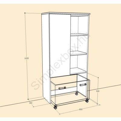 BIA1650A Bianka aszimmetrikus szekrény