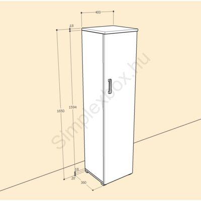 BIA1650AK Bianka 4 polcos 1 ajtós szekrény