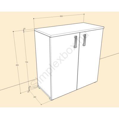 BIA850AS Bianka 2 polcos 2 ajtós szekrény