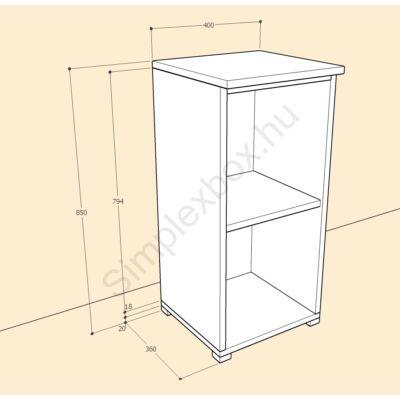 BIA850PK Bianka 2 polcos nyitott szekrény