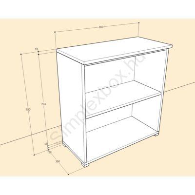 KATA1250AS Kata 3 polcos 2 ajtós szekrény