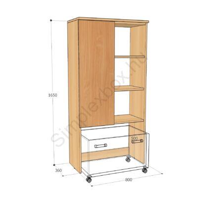 KATA1650A aszimetrikus szekrény