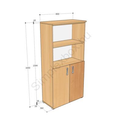 KATA1650AA Kata 4 polcos alsó ajtós szekrény
