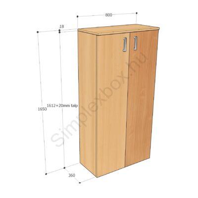 KATA1650AS Kata 4 polcos 2 ajtós szekrény