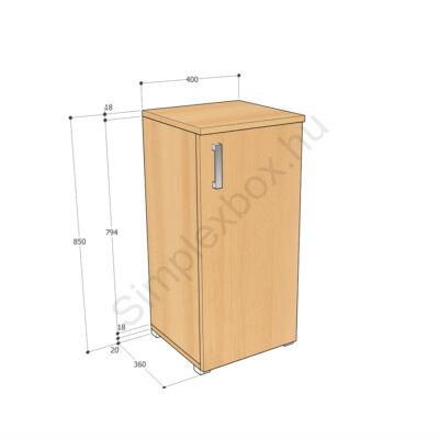 KATA850AK Kata 2 polcos 1 ajtós szekrény