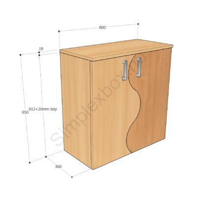 KATA850ASH Kata-H 2 polcos 2 ajtós szekrény