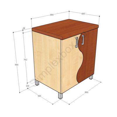 KATA900TAH Kata-H tálaló szekrény alsó elem