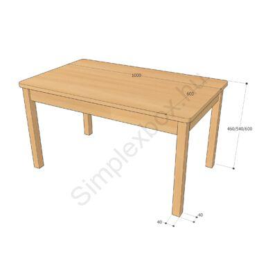 óvodai asztal
