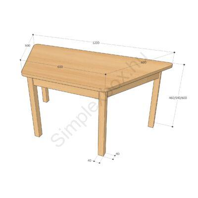 óvodai trapéz asztal
