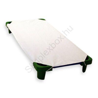 PTX02FP Fehér pamutvászon lepedő fektető ágyra