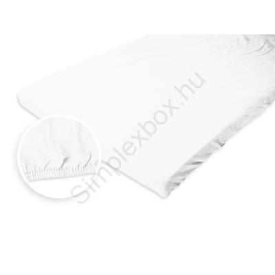 LTXJYL Jersey gumis lepedő fehér 100x200 cm
